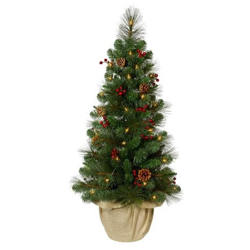 philips 35ft prelit artificial christmas tree potted douglas fir slim warm white led lights - Potted Artificial Christmas Trees