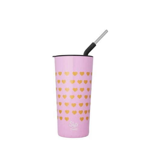 S'ip by S'well 24oz Takeaway Tumbler with Stainless Steel Straw Bubble Gum - image 1 of 2