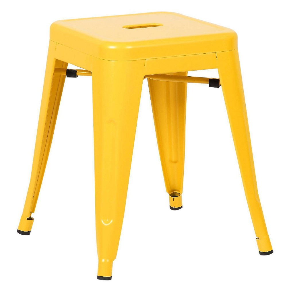 "Image of ""18"""" Franco Industrial Stool Yellow - Poly & Bark"""