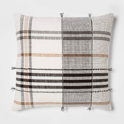 Square Woven Plaid Pillow - Threshold™