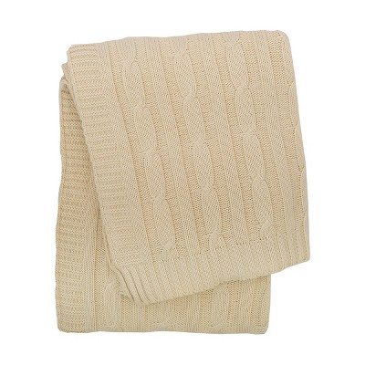C&F Home Ivory Cable Knit Throw