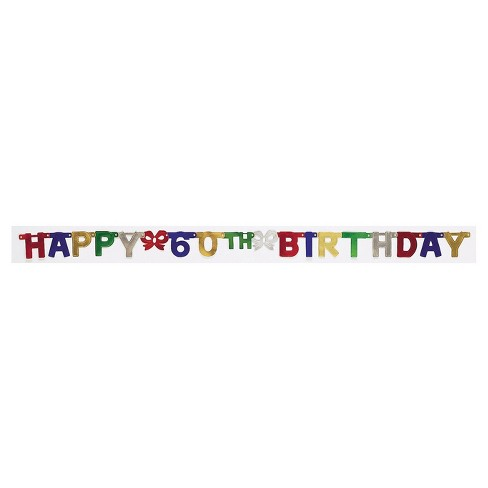 60th Birthday Party Banner - image 1 of 1