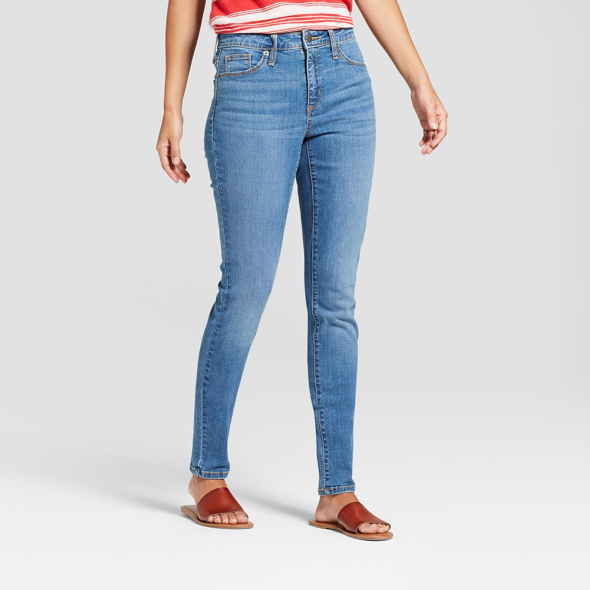 Women's High-Rise Skinny Jeans - Universal Thread Medium Wash 4 Long, Blue