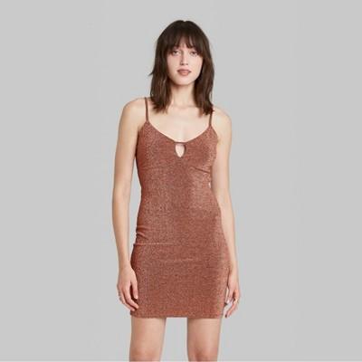 Women's Sleeveless Open Back Woven Bodycon Dress - Wild Fable™