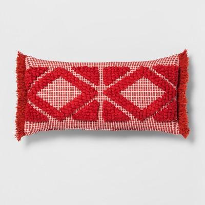 Orange Diamond Skinny Lumbar Throw Pillow - Opalhouse™