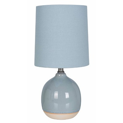 Round Ceramic Table Lamp Blue (Includes Energy Efficient Light Bulb)- Threshold™