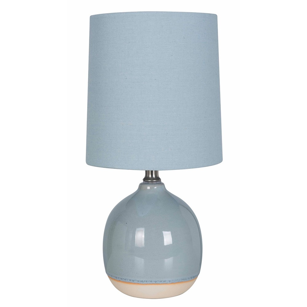 Round Ceramic Table Lamp Blue (Includes Energy Efficient Light Bulb) - Threshold