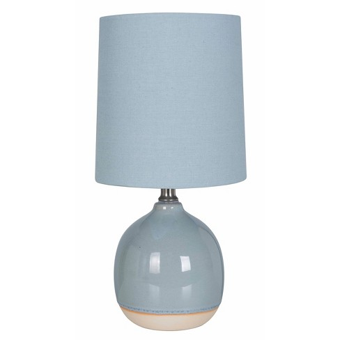 Round Ceramic Table Lamp Blue Lamp Only Threshold Target