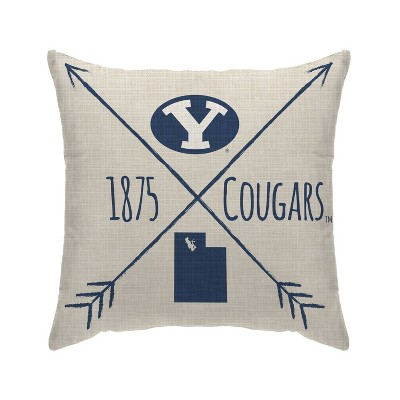 NCAA BYU Cougars Cross Arrow Decorative Throw Pillow