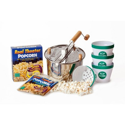 Wabash Valley Farms Stainless Steel Whirley Pop Starter Set