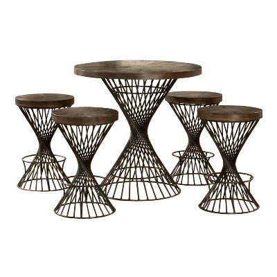 5pc Kanister Round Counter Height Dining Set - Hillsdale Furniture