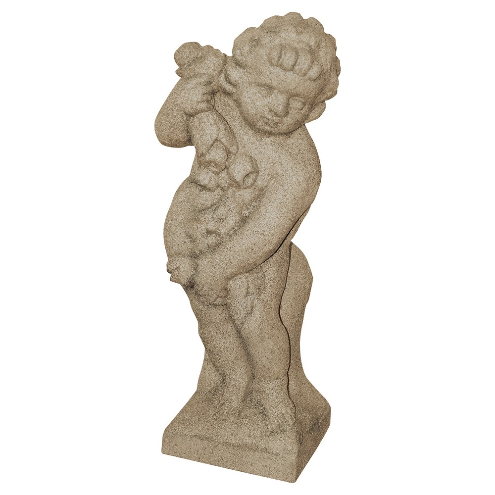 Image of 23.75 Lawn Decor Cupid Statuary - Sand (Brown) - Emsco