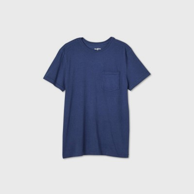 Men's Standard Fit Short Sleeve Crew Neck T-Shirt - Goodfellow & Co™ Navy M