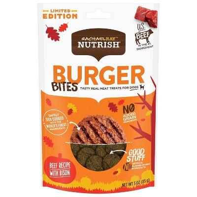 Rachael Ray Beef Nutrish Burger Chewy Dog Treats - 3oz