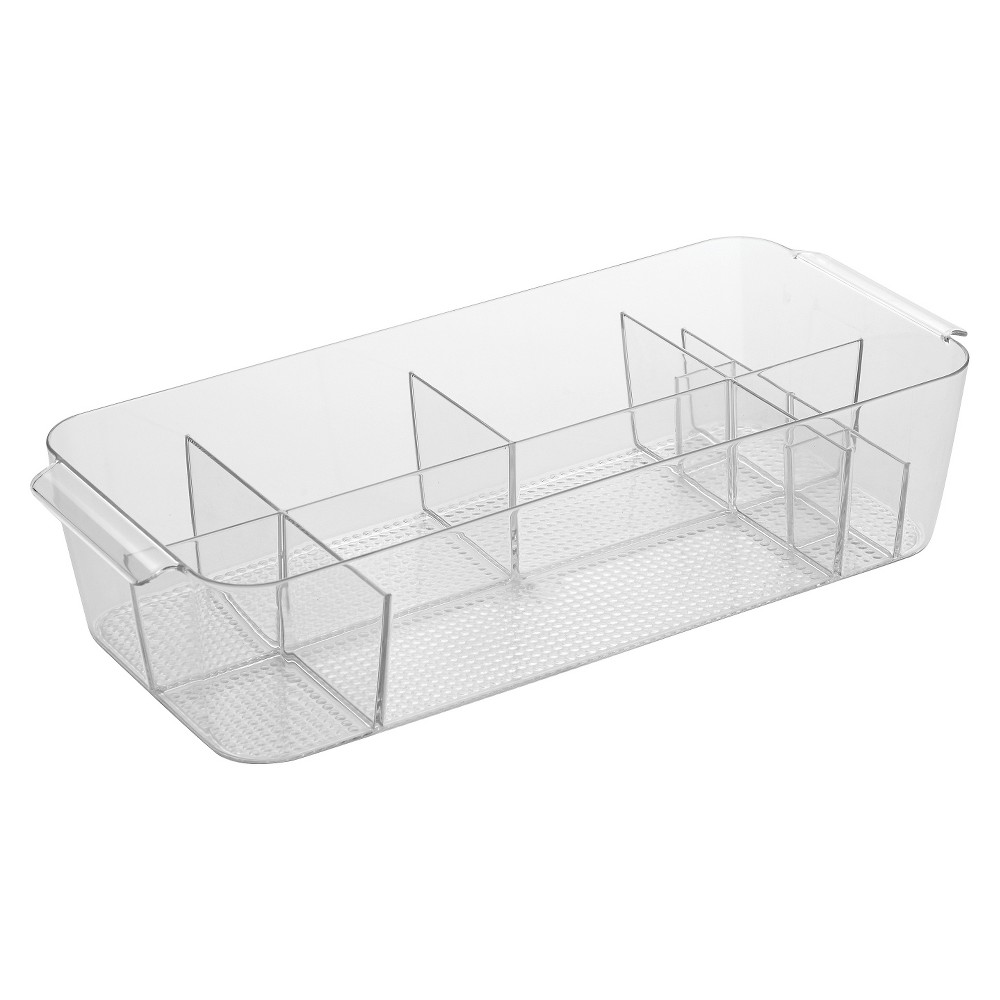 Image of Clarity Large Divided Cosmetic Bin Clear - iDESIGN