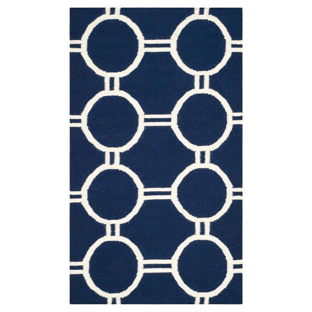 Dhurries Rug - Navy/Ivory (Blue/Ivory) - (3'x5') - Safavieh
