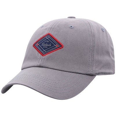 NCAA Ole Miss Rebels Men's Gray Washed Relaxed Fit Hat
