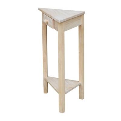 Corner End Table Unfinished - International Concepts : Target