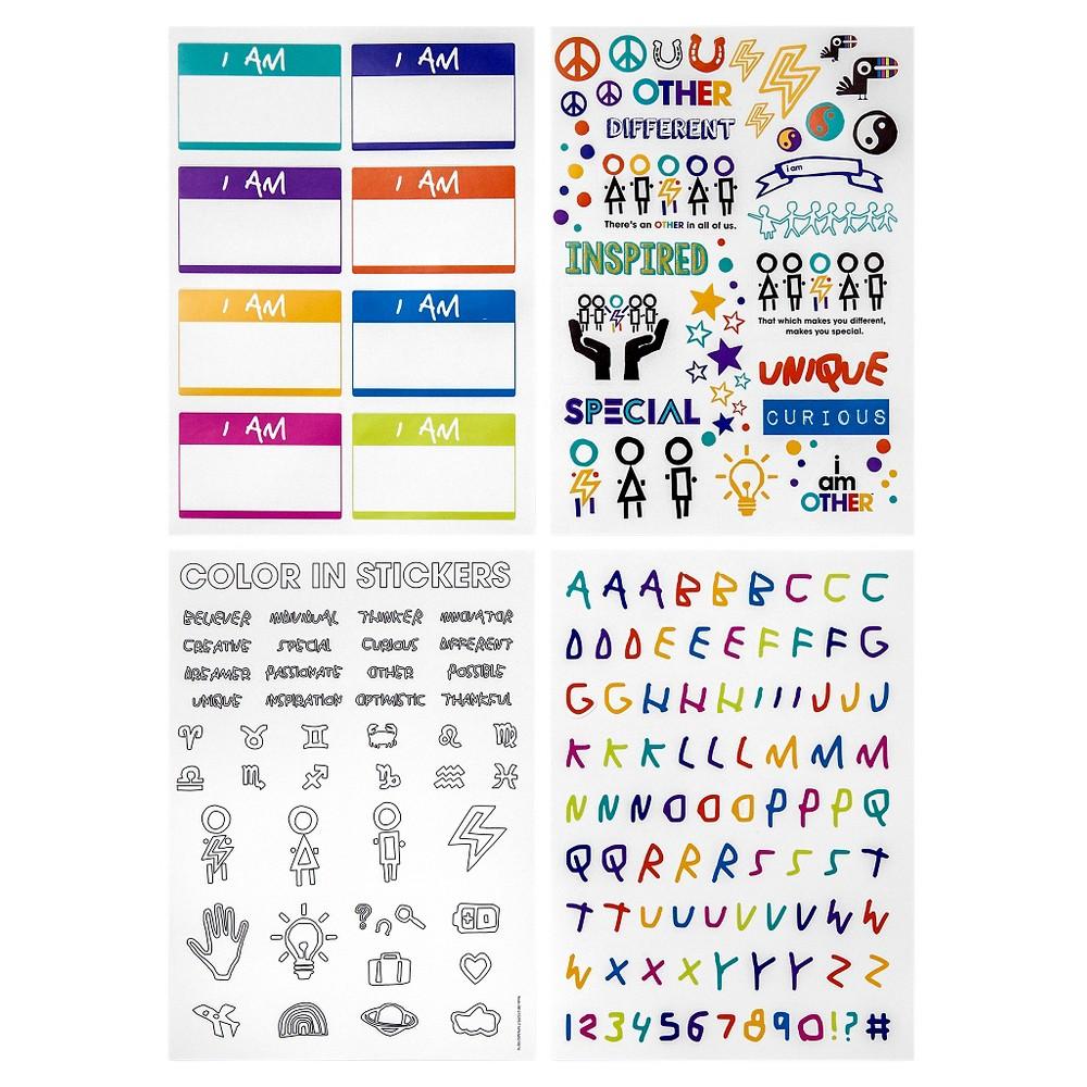 Yoobi x i am Other Stickers, 4pk - Multicolor