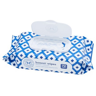 Honest Company Printed Wipes-Blue Ikat, 72ct