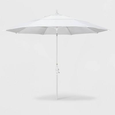 11' Sun Master Patio Umbrella Collar Tilt Crank Lift - Pacifica Natural - California Umbrella