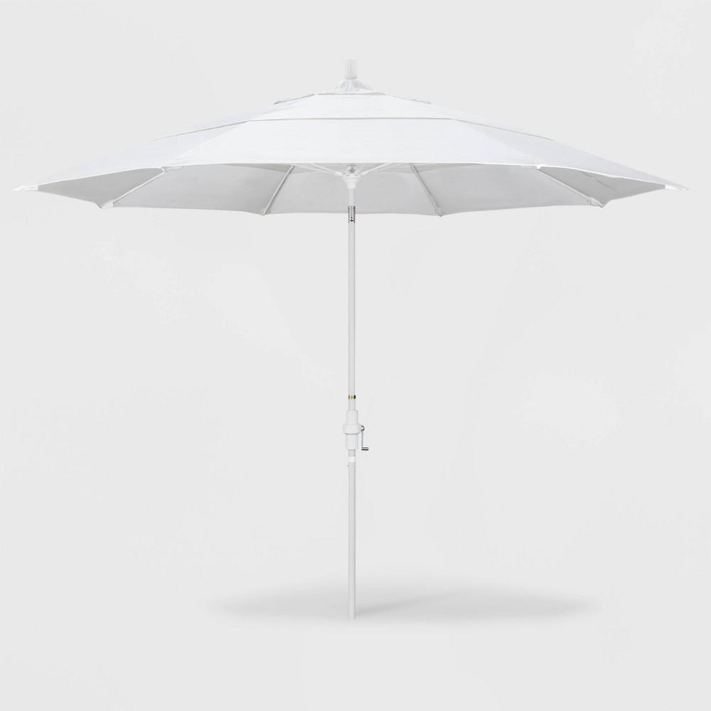 Image of 11' Sun Master Patio Umbrella Collar Tilt Crank Lift - Pacifica Natural - California Umbrella