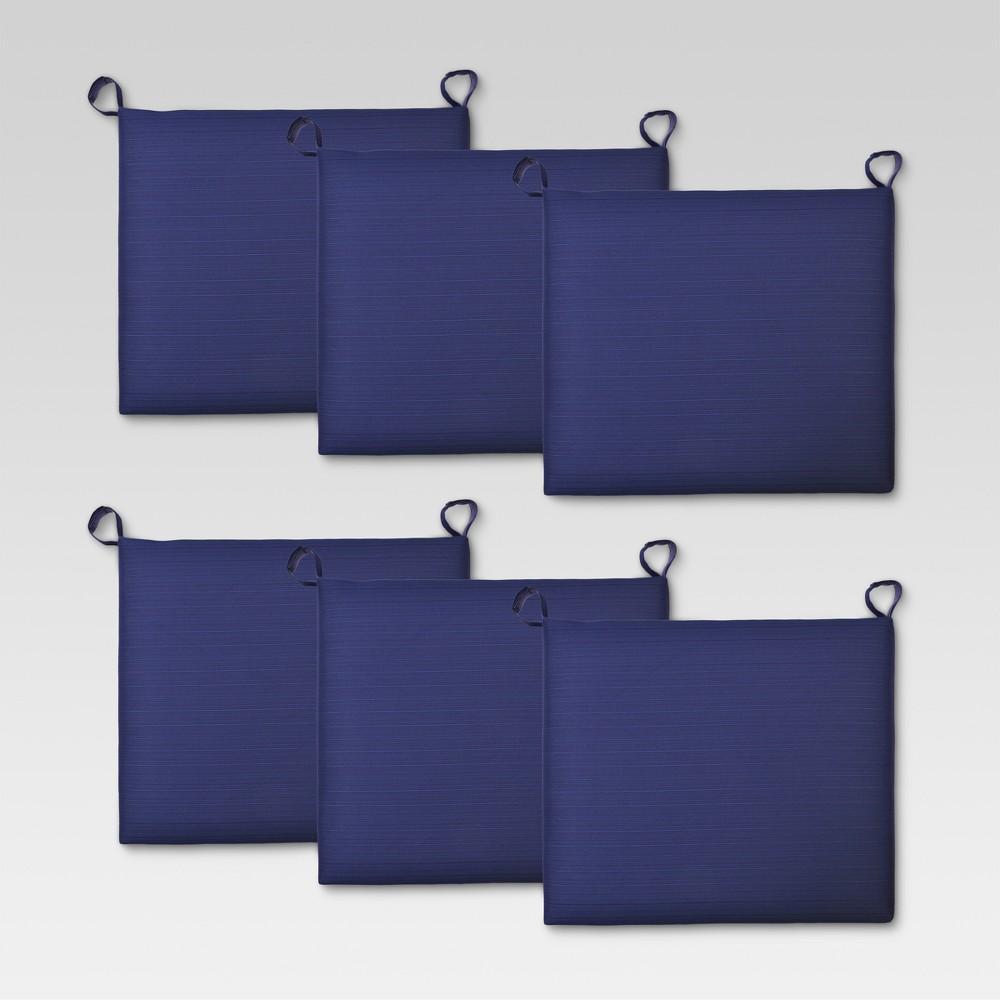 Ft. Walton 6pk Outdoor Dining Chair Cushion - Navy (Blue) - Threshold