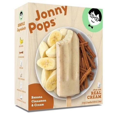 JonnyPops Banana Cinnamon & Cream Frozen Fruit Bars - 3pk - image 1 of 3