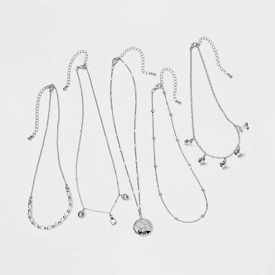 Girls' 5pk Butterfly and Pendant Set Necklace - art class™