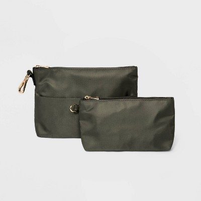 Women's Pouch Set Zip Closure Wallet - A New Day™ Green