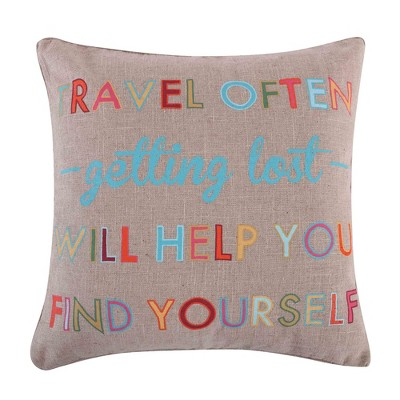 Mayla Travel Often Decorative Pillow - Levtex Home