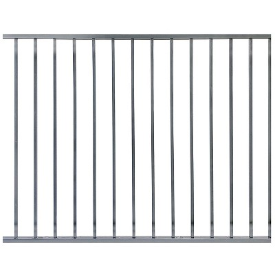 Stratco SC-10760 Outdoor Powder Coated Metal 6 x 4 Foot Ezi-Fence Picket Fence Panel Easy Installation Fence in a Box System, Gray