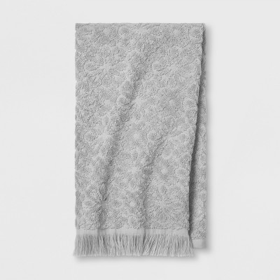 Soft Jacquard Accent Hand Towel Gray - Opalhouse™