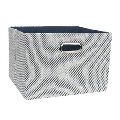 Lambs & Ivy Blue Foldable/Collapsible Storage Bin/Basket Organizer with Handles