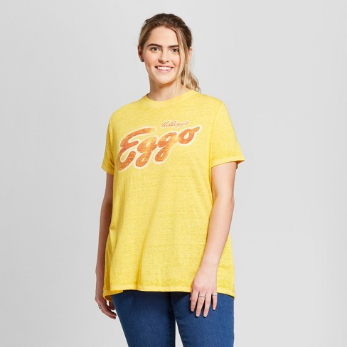41e1553b70f Women s Eggo® Plus Size Short Sleeve Graphic T-Shirt (Juniors ) - Yellow.  Shop all Stranger Things