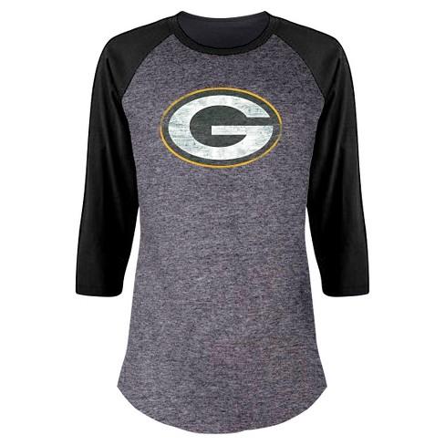 c4adeff0b Green Bay Packers Women s Plus Size Team Logo Raglan Baseball T ...