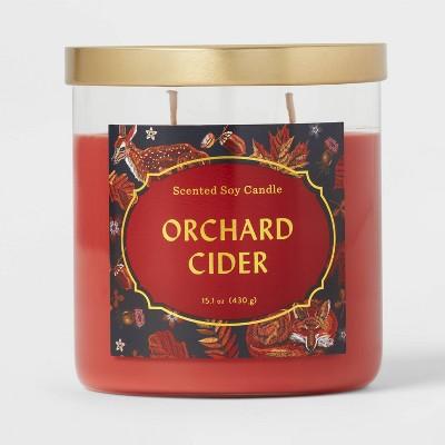 Lidded Glass Jar Orchard Cider Candle - Opalhouse™
