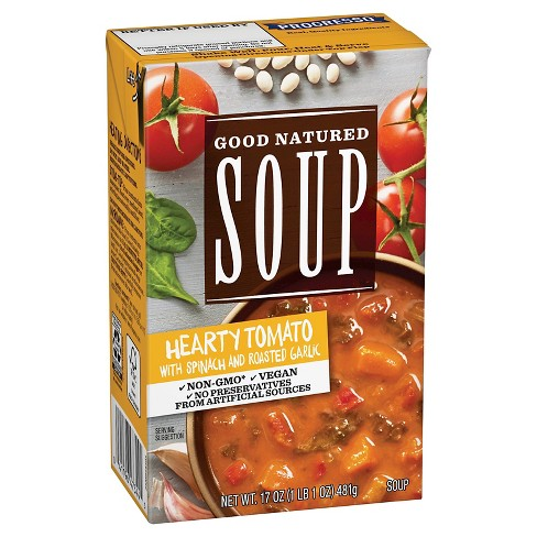 Good Natured Soup Hearty Tomato with Spinach & Roasted Garlic 17 oz - image 1 of 1