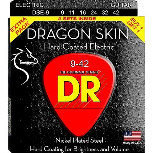 DR Strings Dragon Skin (2 Pack) Light Coated Electric Guitar Strings (9-42) - image 1 of 1