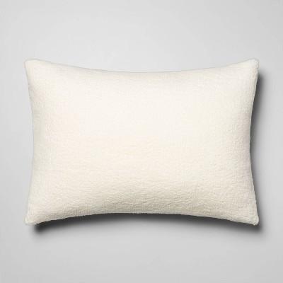 Standard Sherpa Pillow Cover Cream - Room Essentials™