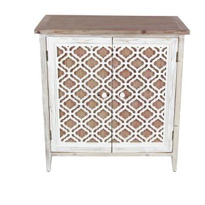 Rustic 2 Door Wooden Cabinet Brown - Olivia & May