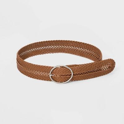 Women's Wide Braided Belt - Universal Thread™ Tan