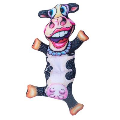 Fuzzu Barnyard Flops Big Moo Dog Toy