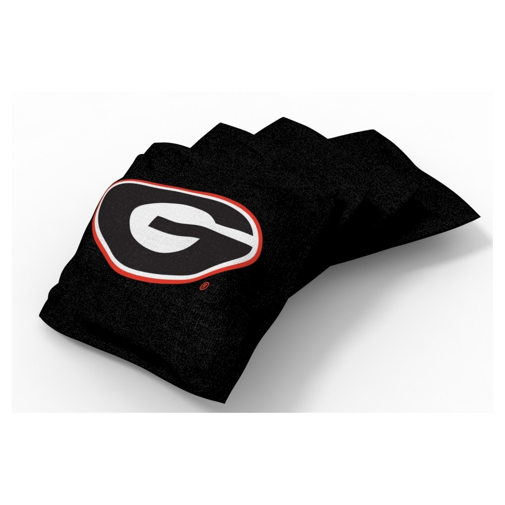 NCAA Georgia Bulldogs Wild Sports 4pk Regulation Bean Bag Set Alternate
