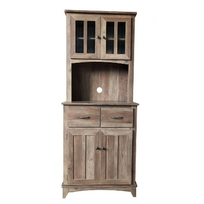 Traditional Microwave Cabinet Reclaimed Wood - Home Source