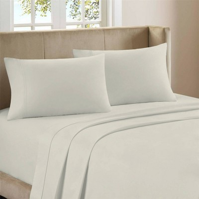 King 800 Thread Count Cotton Rich Sateen Sheet Set Ivory - Color Sense