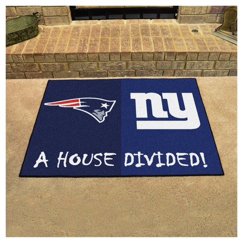 NFL New England Patriots New York Giants House Divided Rug 33.75