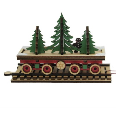 "Ginger Cottages 3.0"" Santa's Np Express Flat Car North Pole Train  -  Decorative Figurines"