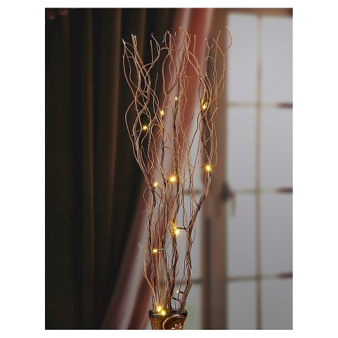 lightshare 36 16 led natural twig branch light for home decoration battery powered warm white lights