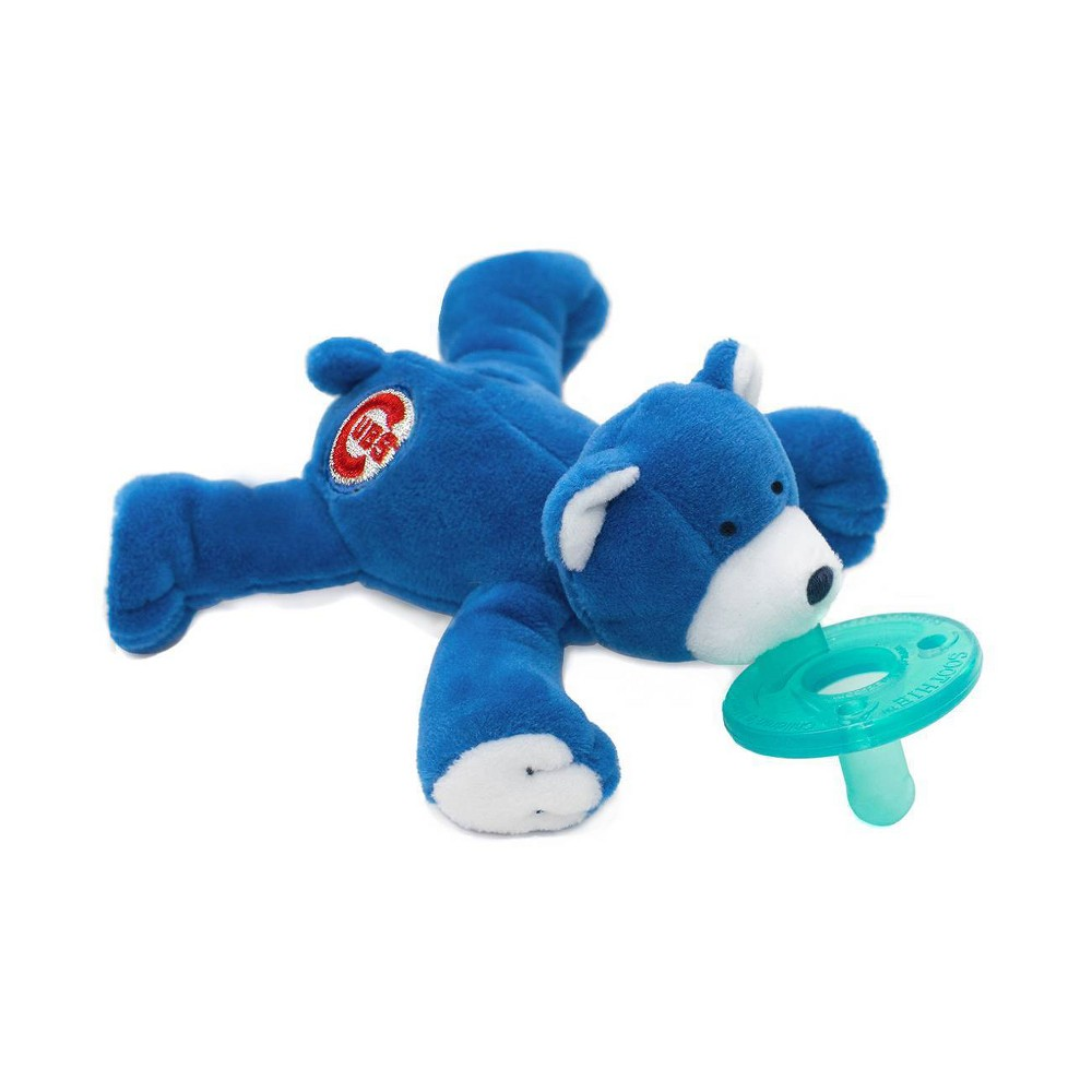 Image of WubbaNub Pacifier - Chicago Cubs Bear